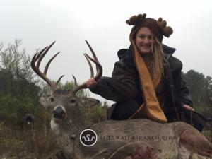 <p>Holly takes another one on her 4th season in a row hunting at Stillwaters.</p>