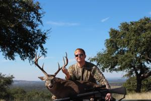 <p>Jason McDonald takes a nice buck. For the record, this is his first deer ever. Not a bad start...</p>