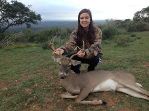 Kaylea  Kohlhoff takes a nice management buck with her dad. Good shooting, Kaylea!